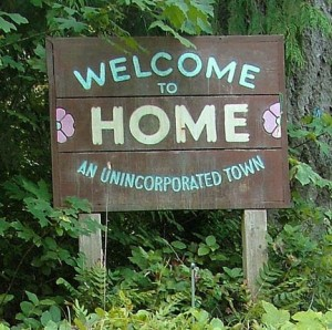 Home City Washington welcome sign