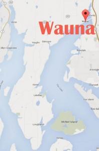 wauna map
