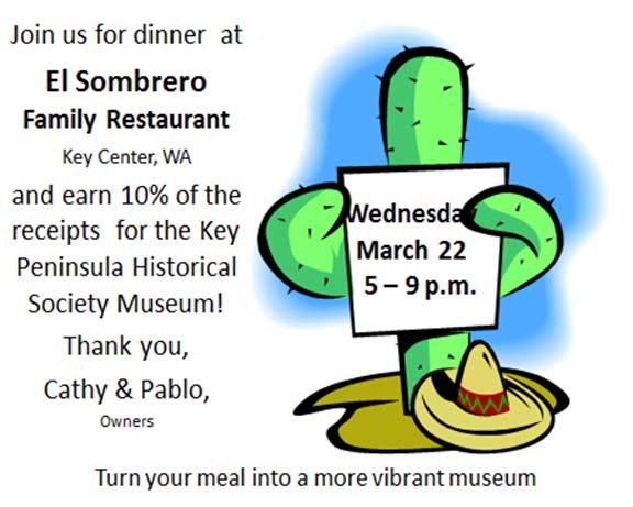El Sombrero Family Restaurant Key Peninsula Historical Society benefit dinner