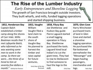 The Rise of the Lumber Industry 1850-1870 Early Entrepreneurs &