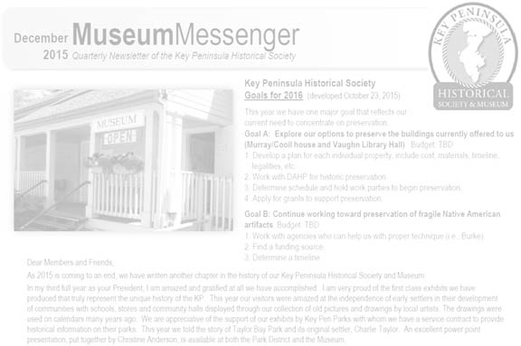 December 2015 Museum Messenger Released