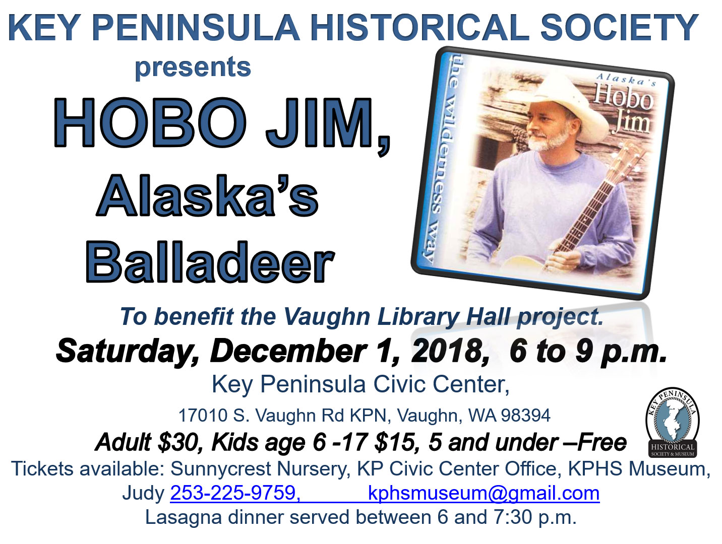 HOBO Jim concert KPHS Saturday December 1st 2018