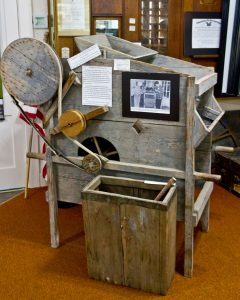 Key Peninsula Historical Society & Museum Cackleberries Humbleberries & Hooch Exhibit, Huckleberry Machine