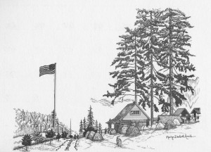 Danforth Log Cabin near Wauna